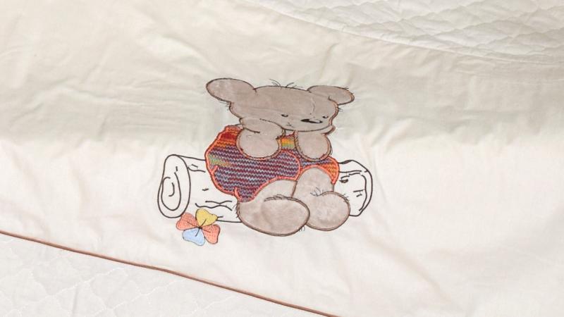 В кроватку новорожденного Покрывало-пододеяльник Мишка на бревнышке фото (3)