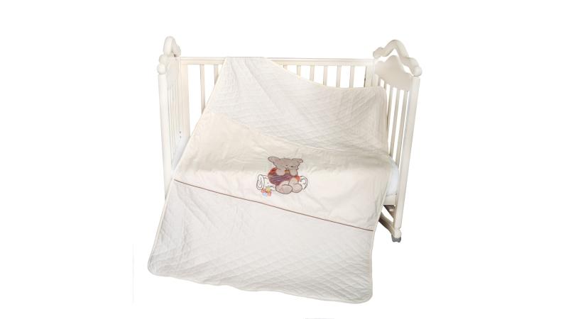 В кроватку новорожденного Покрывало-пододеяльник Мишка на бревнышке фото (0)