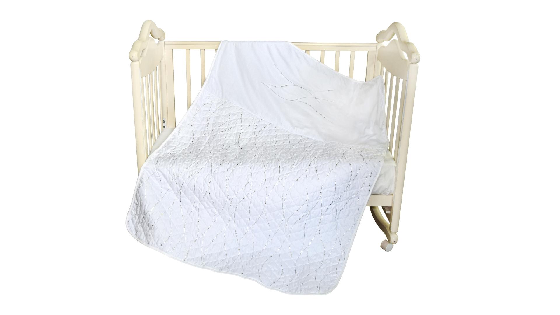 В кроватку новорожденного Покрывало-пододеяльник Серебряные сны фото FullHD (0)