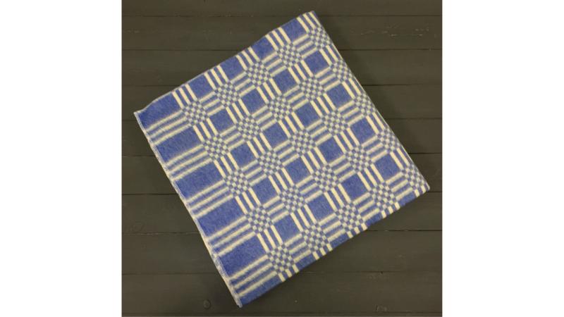 Одеяло Клетка (Синее) фото (0)