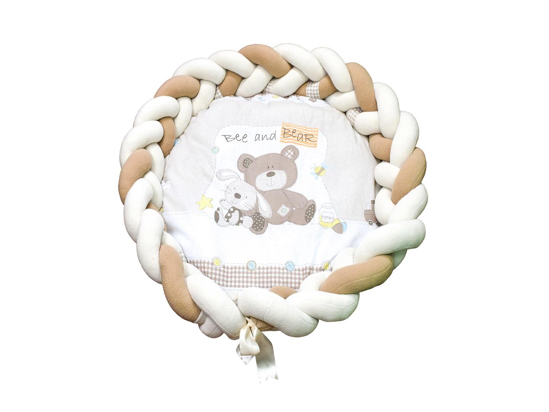 Пеленальный матрасик Косичка Мишка с зайкой фото FullHD (0)