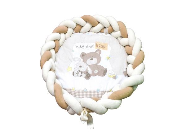 Пеленальный матрасик Косичка Мишка с зайкой фото (0)