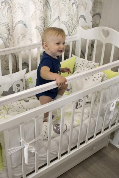 Комплекты (наборы) постельного белья с бортиками в кроватку для новорожденного